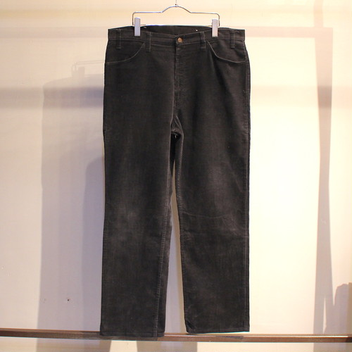80s Levi's 519 1558 (BLACK) CORDUROY PANTS ''DEAD STOCK'' / UB043