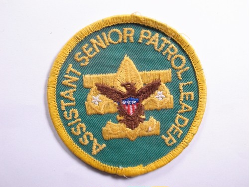 "PATCH""ASSISTANT SENIOR PATROL LEADER"""