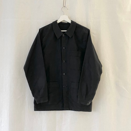 FRANCE 70s〜vintage black moleskin work jacket(coverall)
