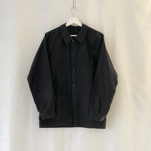 FRANCE 70s〜vintage black moleskin work jacket(coverall)