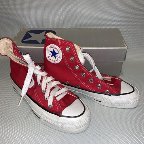 80's CONVERSE All Star /Boy's Hi 2.5 / RED Canvas  Dead Stock