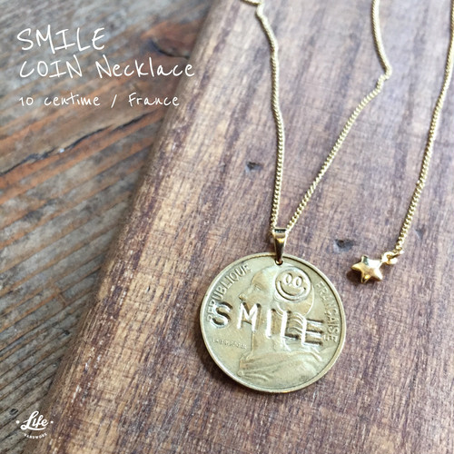 SMILE COIN Necklace (G)