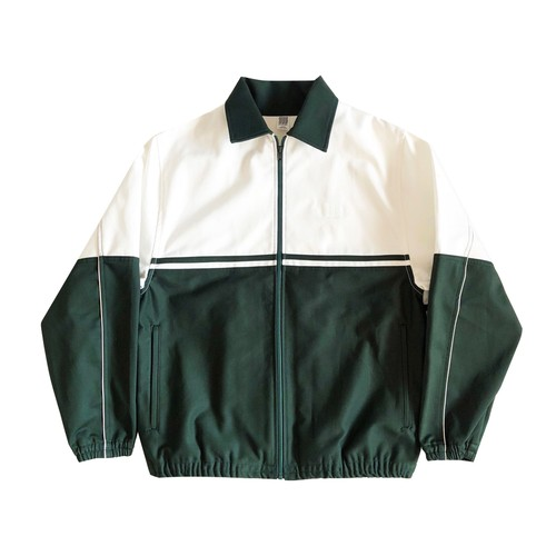 COMFORTABLE RASON / WARM UP JACKET -WHTxGREEN-
