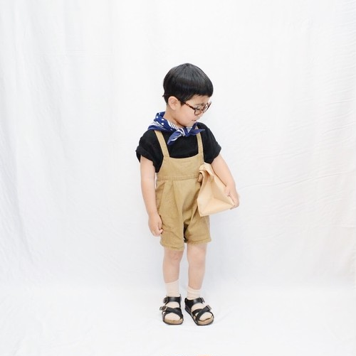 Twill short overalls  biscuit M