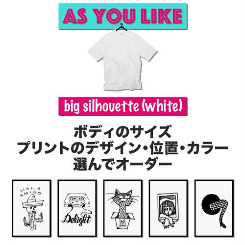 Maskita Laba オーダーTシャツ(ビッグシルエット ホワイト)