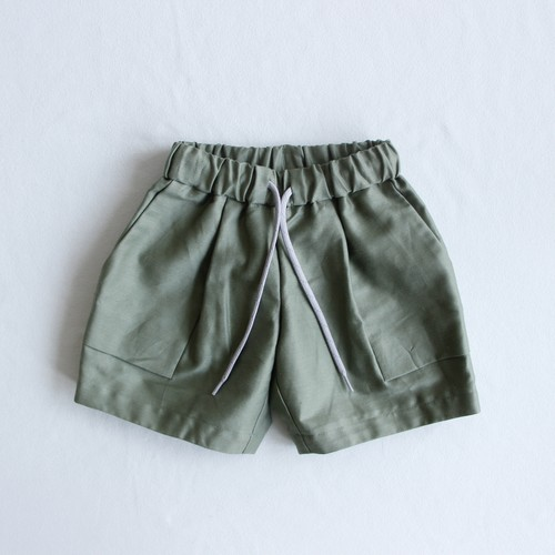 《MOUNTEN. 2021SS》C/L moleskin fatigue shorts / khaki