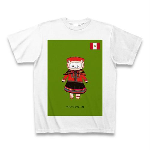 民族衣装Tシャツ  ペルーxアルパカ