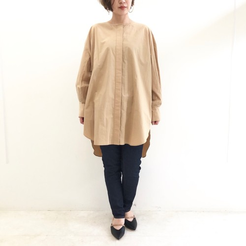 【 Chignonstar 】- 1292-090 - ボリュームスリーブチュニックシャツ