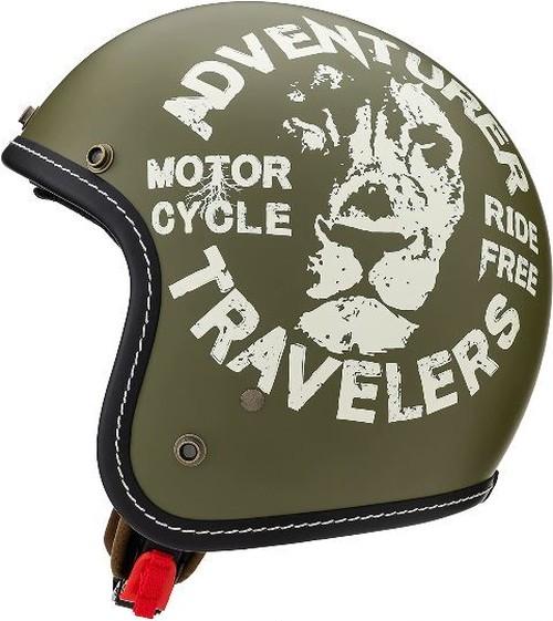 MARUSHIN マルシン オープンジェットヘルメット LEO SCJ3 ナチュラルオリーブ XL