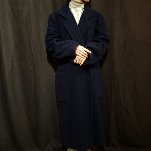 Agnes b  Double breasted long coat /Made In France [1471]