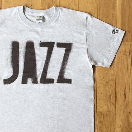 """JS """"JAZZ"""" ステンシル Tシャツ/グレー"""