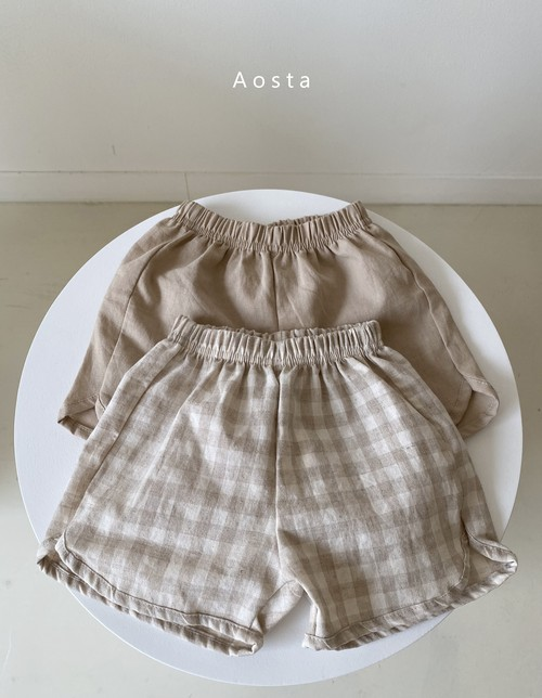 【予約販売】Beton linen short-pants〈Aosta〉