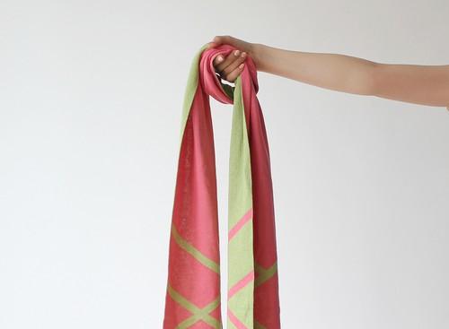 % PERCENT スカーフ春夏(ピンク&グリーン)抗菌・防臭・吸水・通気性・日焼け予防