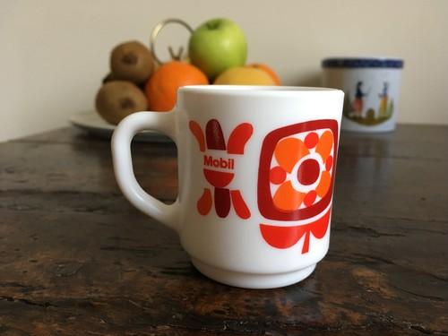 フランス アルコパル社エスプレッソカップ(赤&オレンジ)Mobile柄