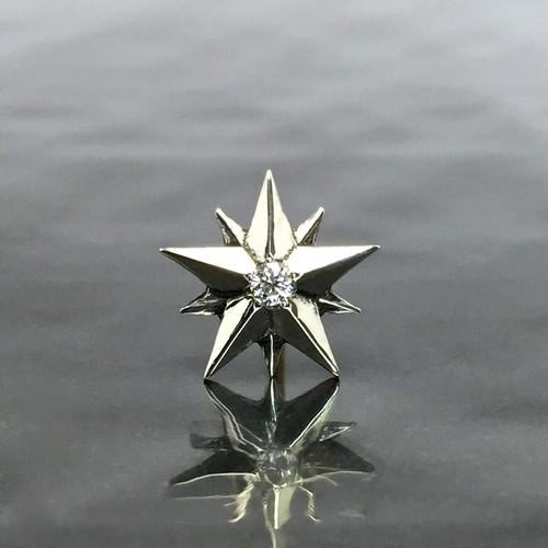 10P STAR STUD with DIAMOND / 10ポイントスターピアス・ダイヤモンド