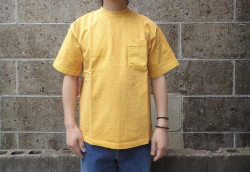 CAMBER (キャンバー) 8oz MAX WEIGHT POCKET T-SHIRT PIGMENT DYE マスタード