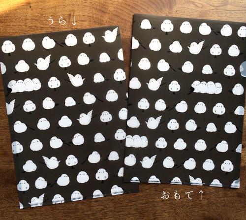 【水玉風】シマエナガのクリアファイル