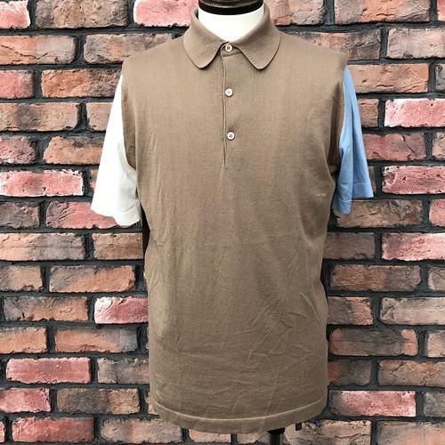 John Smedley Panel Polo Shirt Sea Island Cotton Medium