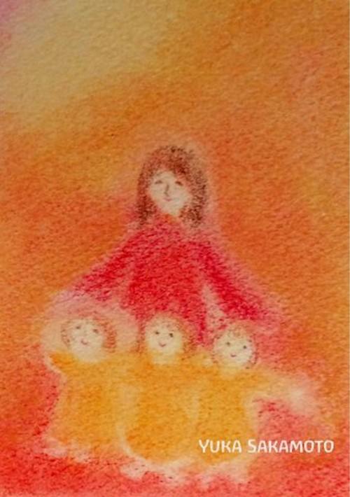 小さな灯りーパステル画