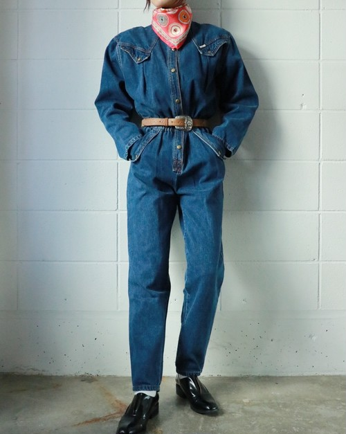 80s denim all in one