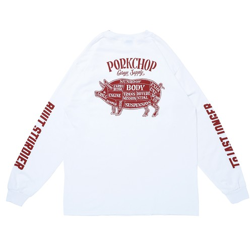 PORK BACK L/S TEE/WHITE