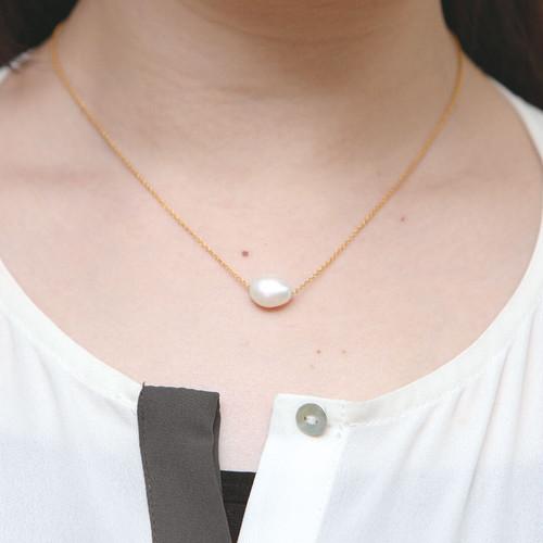 Laboratorium keshi pearl necklace (M)