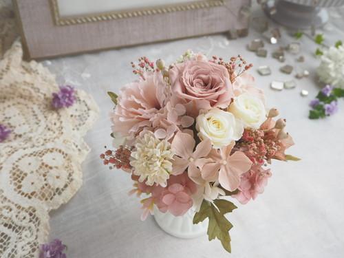 受注制作  Smoky pink antique*スモーキーピンクのアンティークアレンジメント*母の日*プリザーブドフラワー*花*ギフト*母の日のおくりもの特集*母の日ギフト