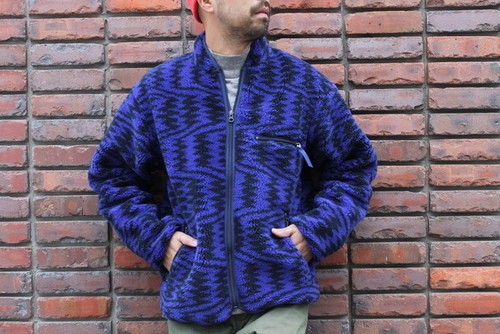"CAL O LINE / RECYCLE PILE CARDIGAN ""ROLLING THUNDER"""