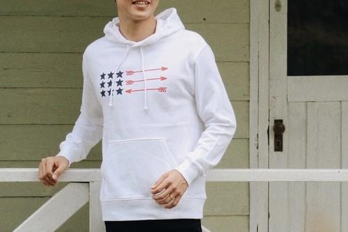 【10/2 21:00発売開始】USA ArrowFlag パーカー(white)