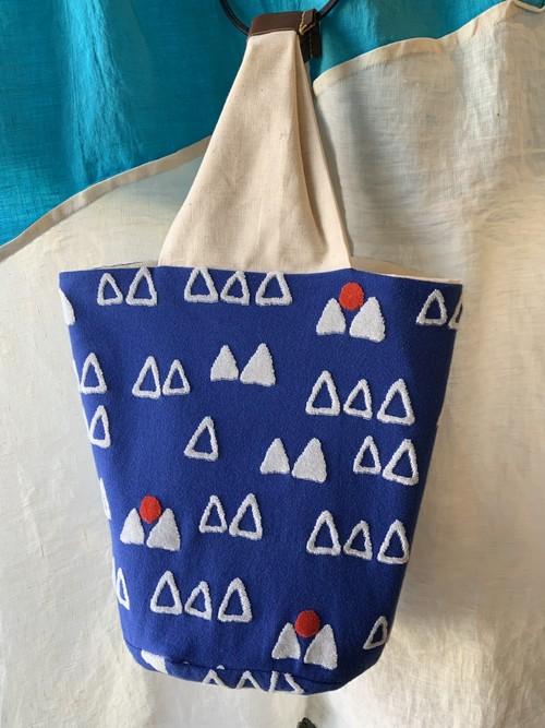 【bucket bag】ao sora/ブルー/original textile