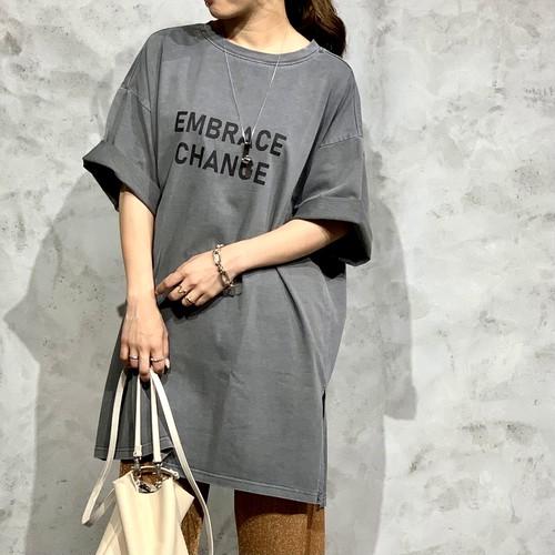 Dignite Collier/デニテコリエ ロゴビッグTシャツ