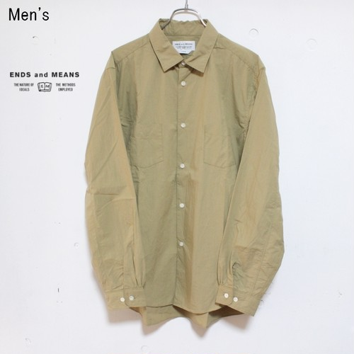 ENDS and MEANS オルダスシャツ Aldous Shirts EM181S007 (BEIGE)