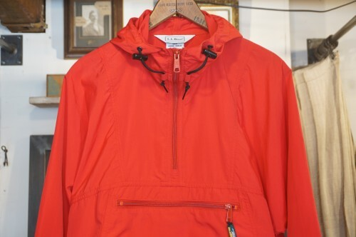 "90's L.L.Bean red Anorak ""POCKETABLE"""