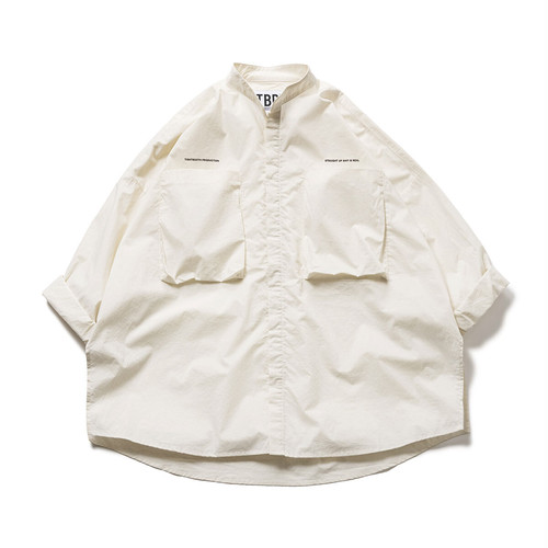 Tightbooth BAND COLLAR BIG SHIRT Ivory L