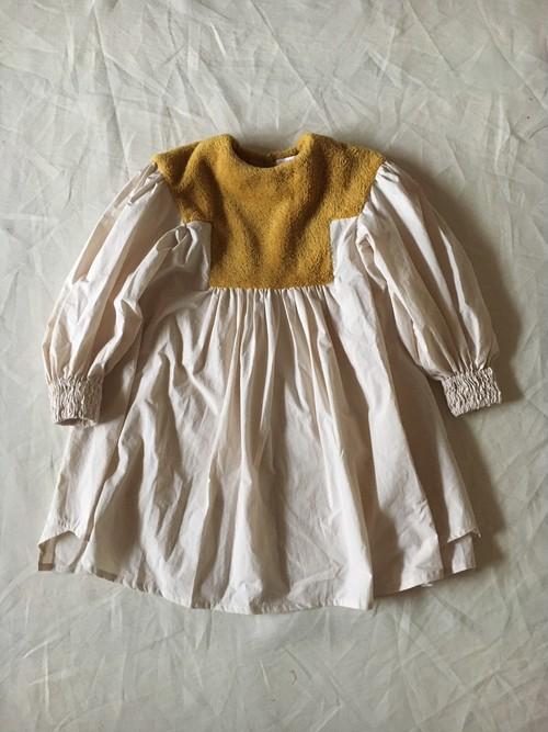 LLサイズ boa dress   col.マスタードboa×生成
