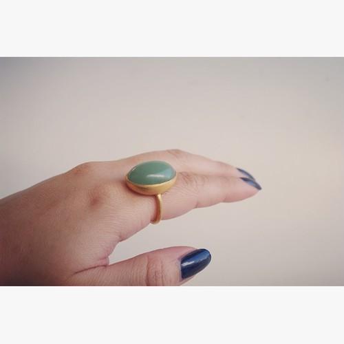 green aventurine ring (グリーンアベンチュリン) #12