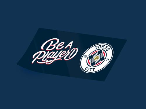 【100枚限定】TOKYO CITY FC × Be a Player! ステッカー
