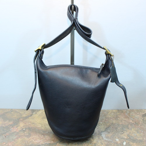 .OLD COACH BACKET TYPE LEATHER SHOULDER BAG MADE IN COSTA RICA/オールドコーチバケツ型レザーショルダーバッグ 2000000033396