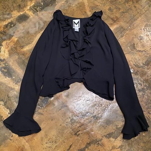 Silk frill jacket