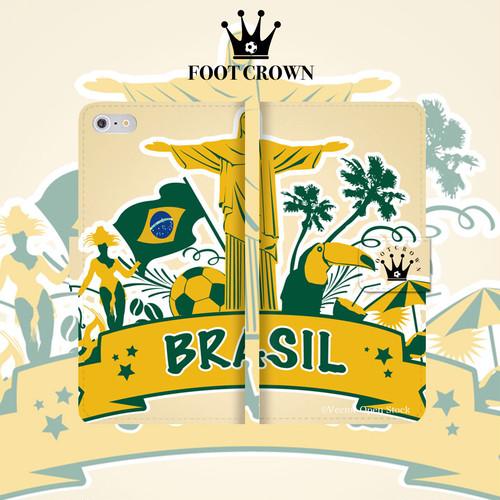 iPhone全機種対応 手帳型スマホケース ブラジル