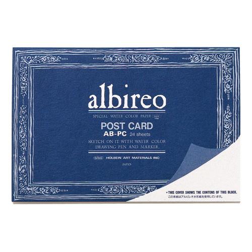 アルビレオ水彩紙 ポストカード ブロック 218g 中目