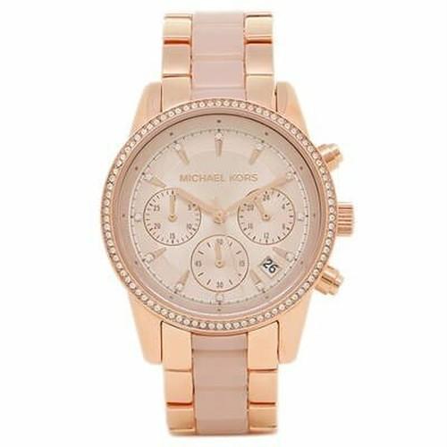 Michael Kors マイケルコース RITZ リッツ レディース 腕時計 MK6307 クロノグラフローズゴールド/ピンク