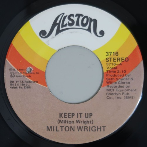 "MILTON WRIGHT/KEEP IT UP (7"",US orig)"