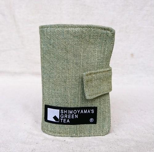 お茶染めデニム カードケース(アイボリー)