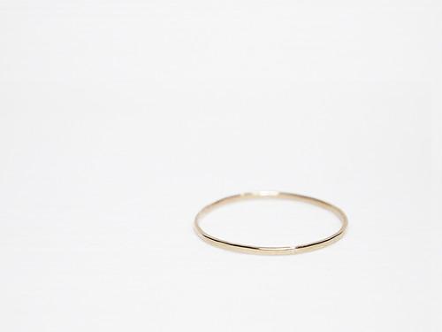 【在庫限り】K10 Smith Ring / Plane