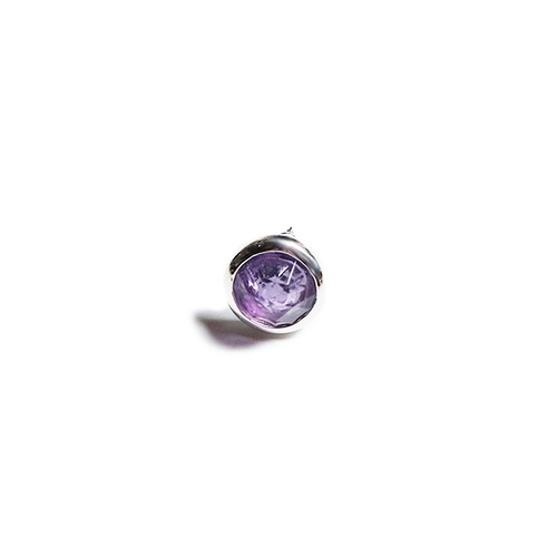 CONSIGLIERE/コンシリエーレ Jeweled Studs Earring/Purple