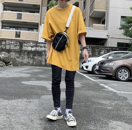【送料無料】ゆるカジスタイル♡シンプル 英字ロゴ ルーズ シルエット ビックサイズ  Tシャツ