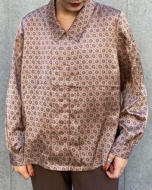 (PAL) flower pattern l/s blouse