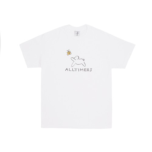 ALLTIMERS / CLAIRE PUP TEE -WHITE-