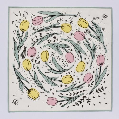 """〈相原暦〉handkerchief """" tulip """""""